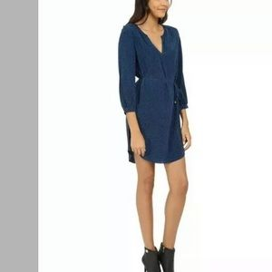 JOIE WOMEN'S BLUE KSORA BLUE MINI SHORT SILK DRESS